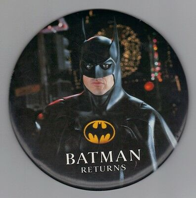 Batman Returns , Michael Keaton , giant size  pin back button