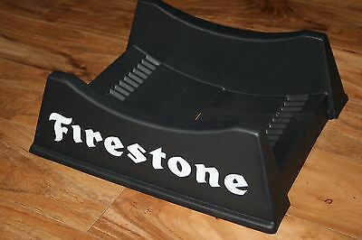 Vintage Firestone Service Station Shop Tire Stand Sign