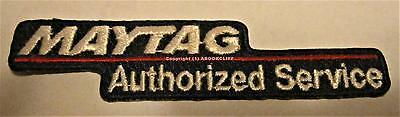MAYTAG AUTHORIZED SERVICE Patch IRON ON SEW ON 3 1/2 x 3/4 Inch MINT Unused