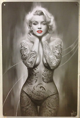 MARILYN Tin Metal Sign Rustic Look .. MAN CAVE . brand new. AU SELLER