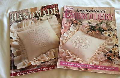 Handmade With love,inspirational Embroidery 2 X Books In Very Good Condition