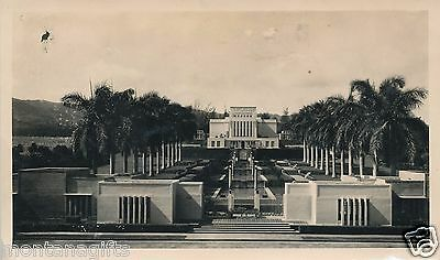 1930s Pools in front of Mormon Temple at Laie, 3 1/2 x 6 photo Hawaii