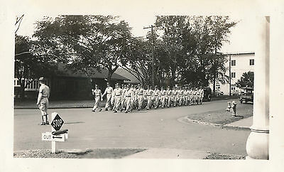 1930s Hawaii Schofield Barracks, Army troops & band marching 2  Photos