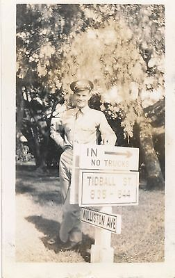 1940s Schofield Soldiers Photo at  Tidball St & Williston Ave sign