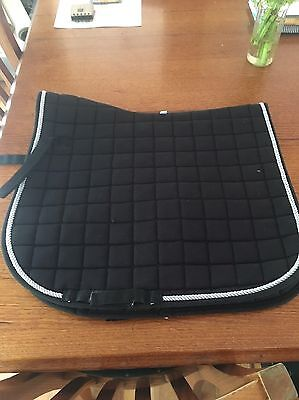 Dressage Saddle Pad FULL Black/Silver