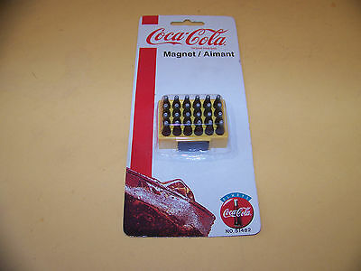 1999 COCA COLA Magnet - 24 Bottles of Coca Cola in Yellow Case - NEW on card