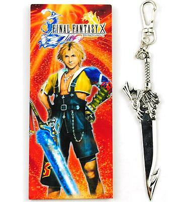 Cool Final Fantasy X Metal Weapon Sword Key Chain Keyring Cosplay Boys Gifts