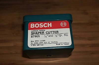 "Bosch Shaper Cutter 1/4"" And 1/2"" Qr. Rd. #87905"