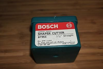 "Bosch Shaper Cutter 1 1/2"" Straight #87956"
