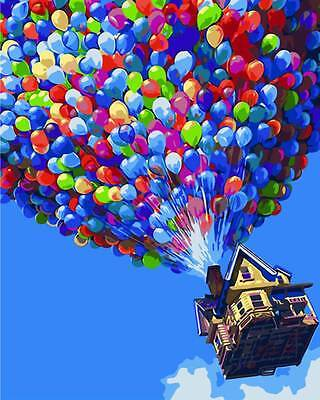 Painting by Number Kit (Framed) 40*50CM Balloon UP S2 KID DIY F007 STOCK