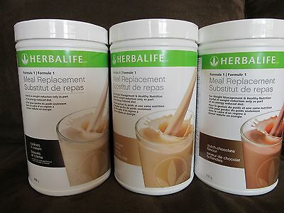 3 Herbalife Protein Shakes 750g  (5 FLAVORS) BY 3 -  FREE SHIPPING
