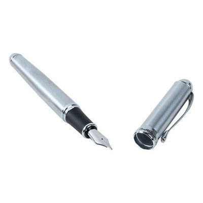 JinHao X750 NEW Classic Silver CT Fountain Pen , Smooth Writing Pen M9H8