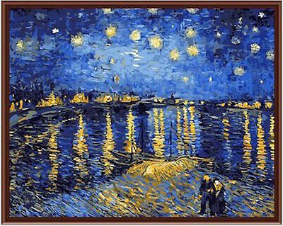 Painting by Number Kit (Framed) 40*50CM Starry Night S2 KID DIY F008 OZ STOCK