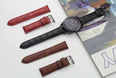 Genuine Leather Crocodile Strap Band For Samsung Gear S3 Frontier / Classic 22mm
