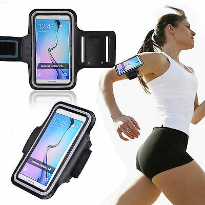 Samsung Galaxy S7 Edge Sports Armband Gym Running Arm Band Case Holder Pouch