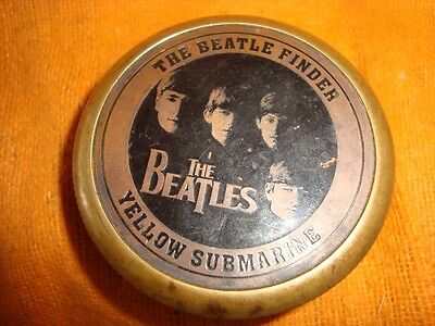 Old Vintage Round Brass The Beatles Compass from England 1966