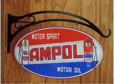 Ampol Hanging Oval Tin Sign  HS001
