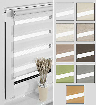 Double Roman Blind Duo Shade Clip-Fit Blinds Blind Without Drill Fairlead