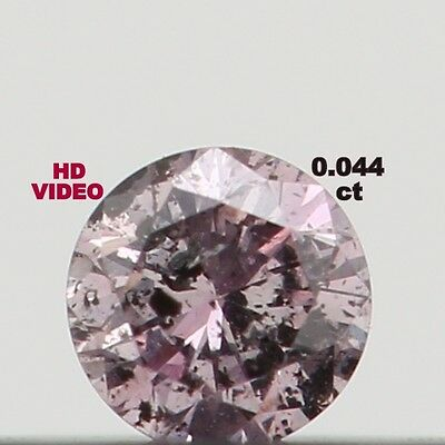 0.044 Ct Natural Loose Diamond Cut Round Shape Fancy Pink Color N1874