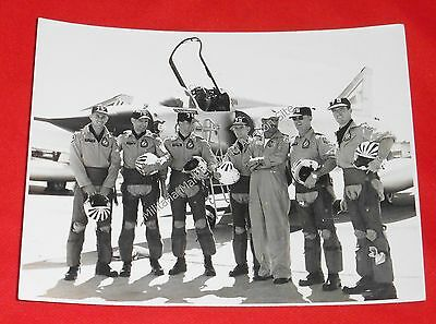 an offical RAAF Mirage Fighter aircraft Photo showing Pilots & Aircraft