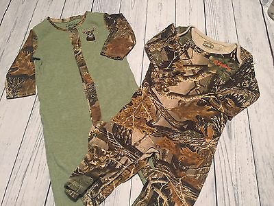 Baby boy size 6-12 months Cabelas camoflauge one Piece lot of 2