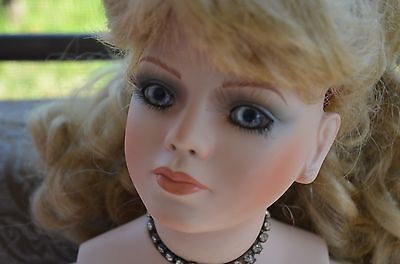 "28"" Porcelain Doll by RUSTIE Signed/Numbered 252 of 2000"