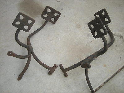 Pair Of Antique Horse-Drawn BUGGY Carriage STEPS - Wagon...