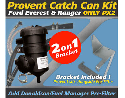 ProVent Catch Can Kit for Ford Everest, Ranger PX2 Only incl.bracket