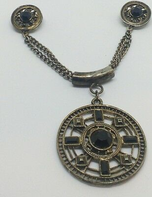 Antique collar Pin and Pendent Black&Silver
