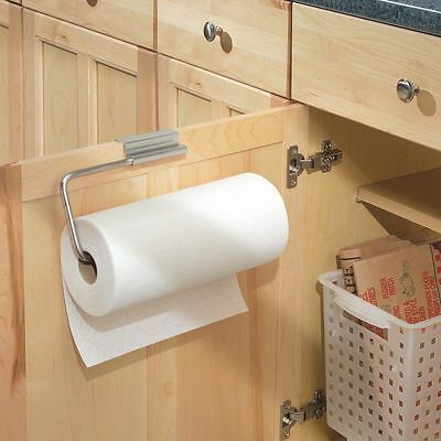 Bathroom Stainless Steel Over Cabinet Kitchen Wall-Mount Paper Towel Holder