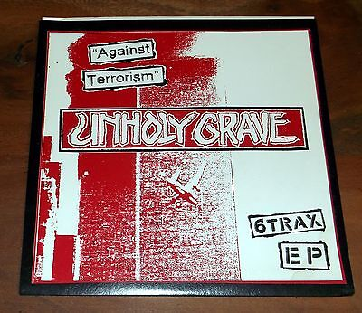 """UNHOLY GRAVE - Against Terrorism - 6 Trax EP - 7"""" - Power It Up 2003  P.I.U. #05"""