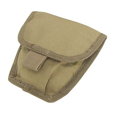 CONDOR MA47 MOLLE Modular Belt Mount Double Handcuff Pouch TAN