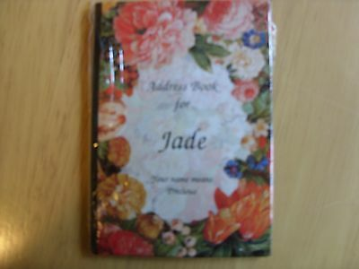 """personalised address book """"jade"""" new auction"""