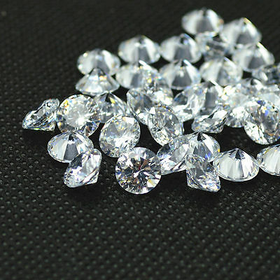 3.50ct Round Cut Clear Simulated Loose Diamond (0.70x5 pcs) VVS1-D 5mm Each