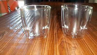 Set of 2 Double Walled Glass/Glasses 250ml New in box