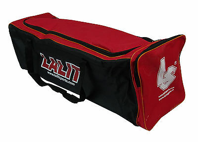 Lalit Red Matty Cloth Cricket Team Kit Single Pocket Bag- 36 x 11 x 11 Inches