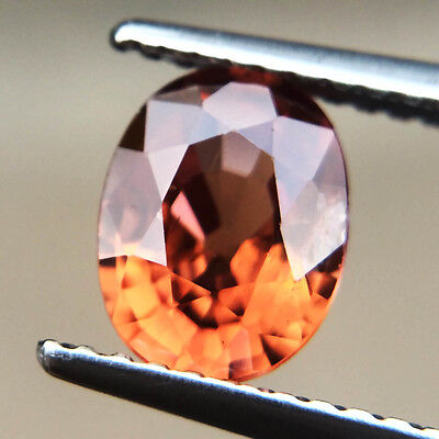 Certified 1.73ct 100% Natural Unheated Sparkle Oval Imperial Zircon Cambodia