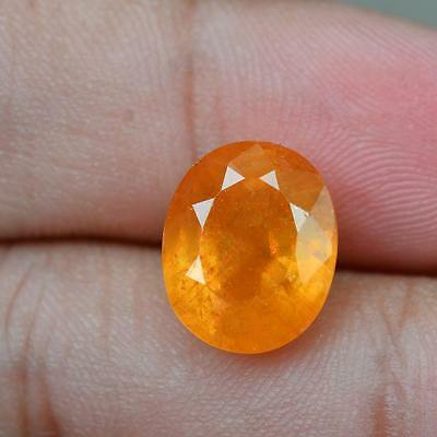 Certified 6.41ct 100%Natural Oval Top Sparkle Rich Yellow Sapphire Madagascar
