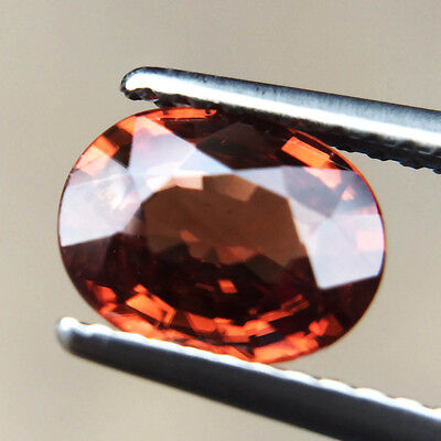 Certified 1.65ct 100% Natural Unheated Oval Collection Imperial Zircon Cambodia