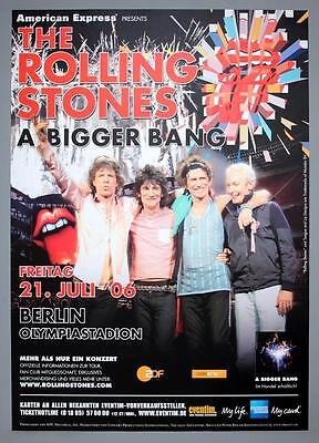 THE ROLLING STONES - rare original Berlin (Germany) 2006 concert poster