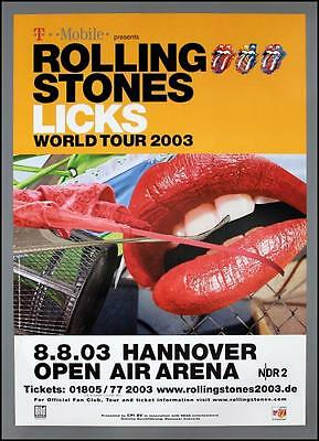 THE ROLLING STONES - rare original Germany 2003 concert poster