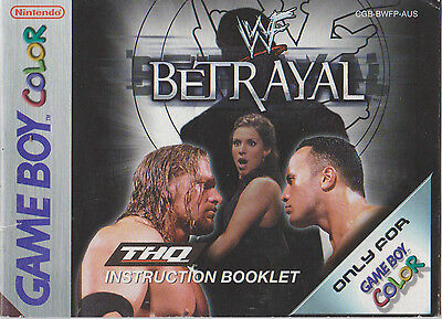 WWF Betrayal THQ Game Boy Color Instruction Booklet  (2001 Australian GameBoy)
