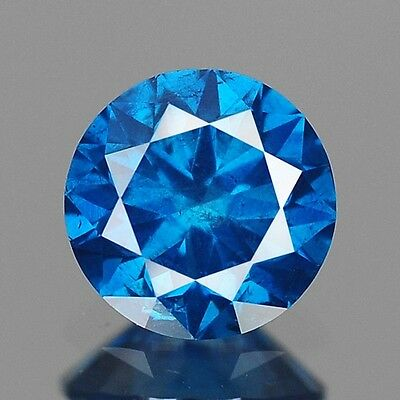 0.41ct 4.7mm Rare Natural Diamond Round Fancy Blue Loose Diamonds Free Ship