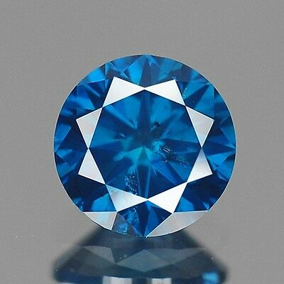 0.40ct 4.6mm Rare Natural Diamond Round Fancy Blue Loose Diamonds Free Ship