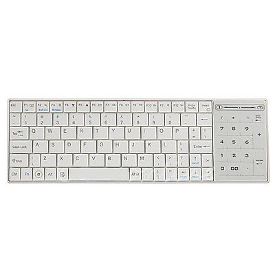 White Wireless Bluetooth 3.0 Keyboard w Touchpad for Apple MacBook Air Pro N7Z5