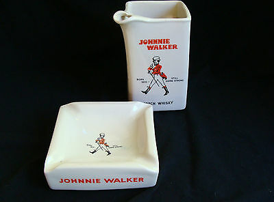 Vintage Johnnie Walker Scotch Whiskey Jug And Ashtray, Huntley, Vgc Can Post