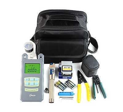 FTTH  Fiber Optic Tool Kit with FC-6S Cleaver Optical Power Meter Visual Finder