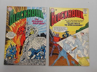Blackhawk comic lot of 2! #'s 184 and 185! FN6.0+ range! Silver age DC beauties!