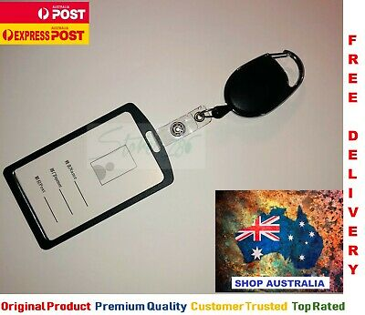 Retractable Lanyard ID Card Holder Business Security Pass Opal Badge | AUS STOCK