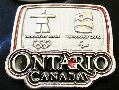 2010 OLYMPIC Pin ONTARIO CANADA SPONSOR VANCOUVER Mint in Bag